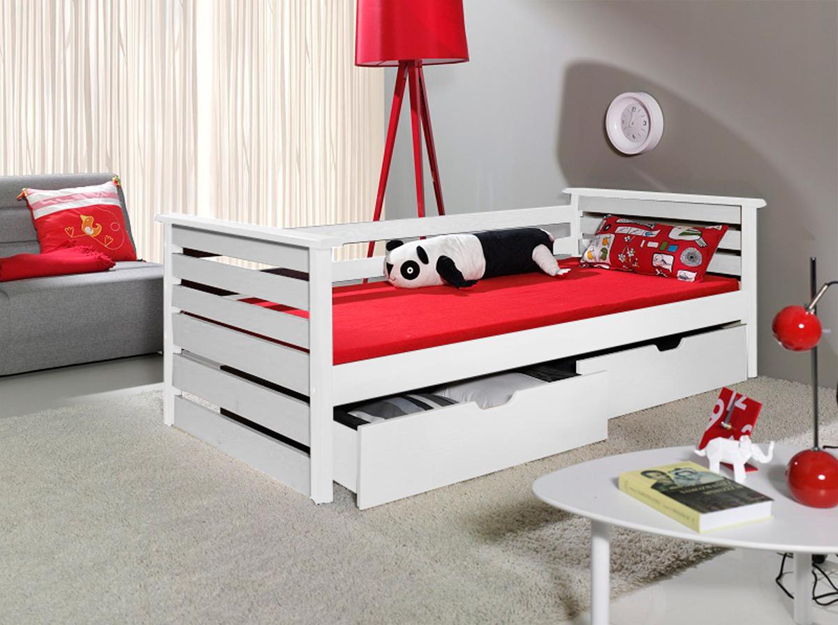 Detská posteľ Single biela 180x80 cm