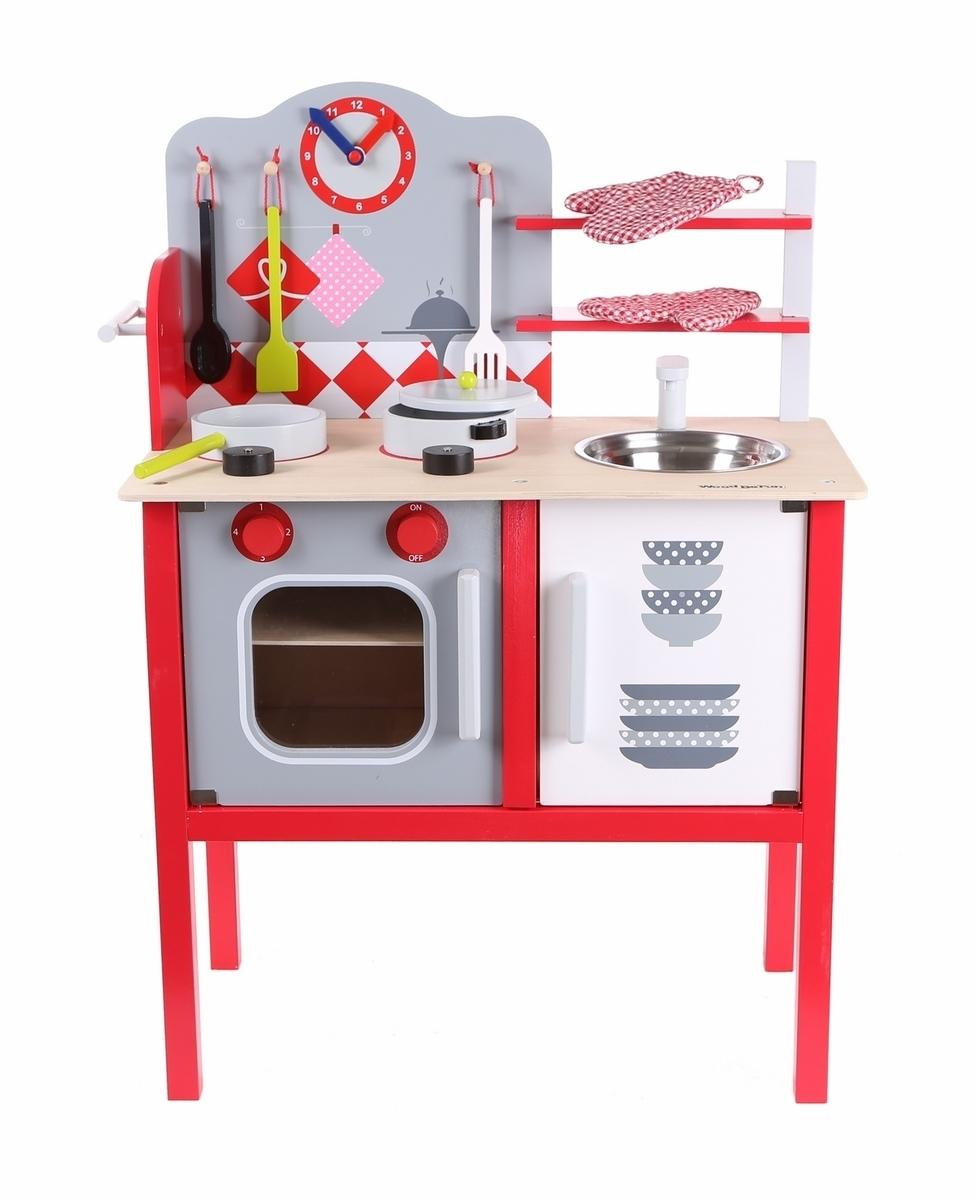 Detská drevená kuchynka s vybavením