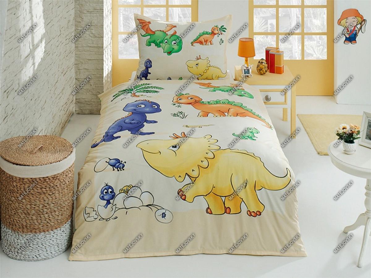Detské obliečky hraví dinosaury 140x200