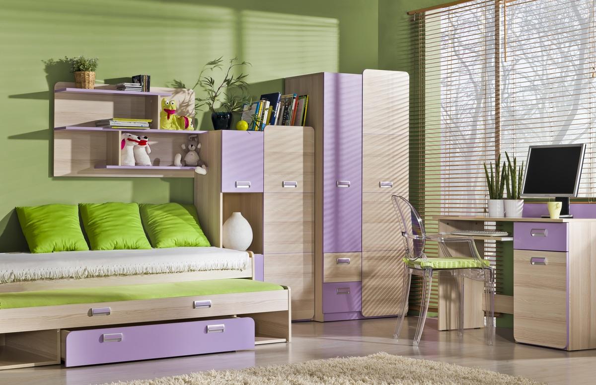 Detská izba Lori 4 kombinovaná skriňa L5