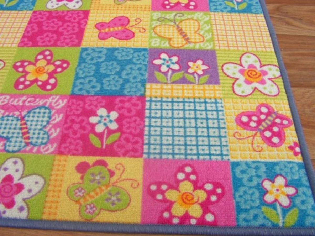 Detský koberec BUTTERFLY 200 x 300 cm