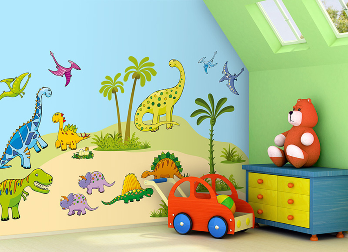 Mint Kitten Dinosaurs 605-0, 1,6 m²