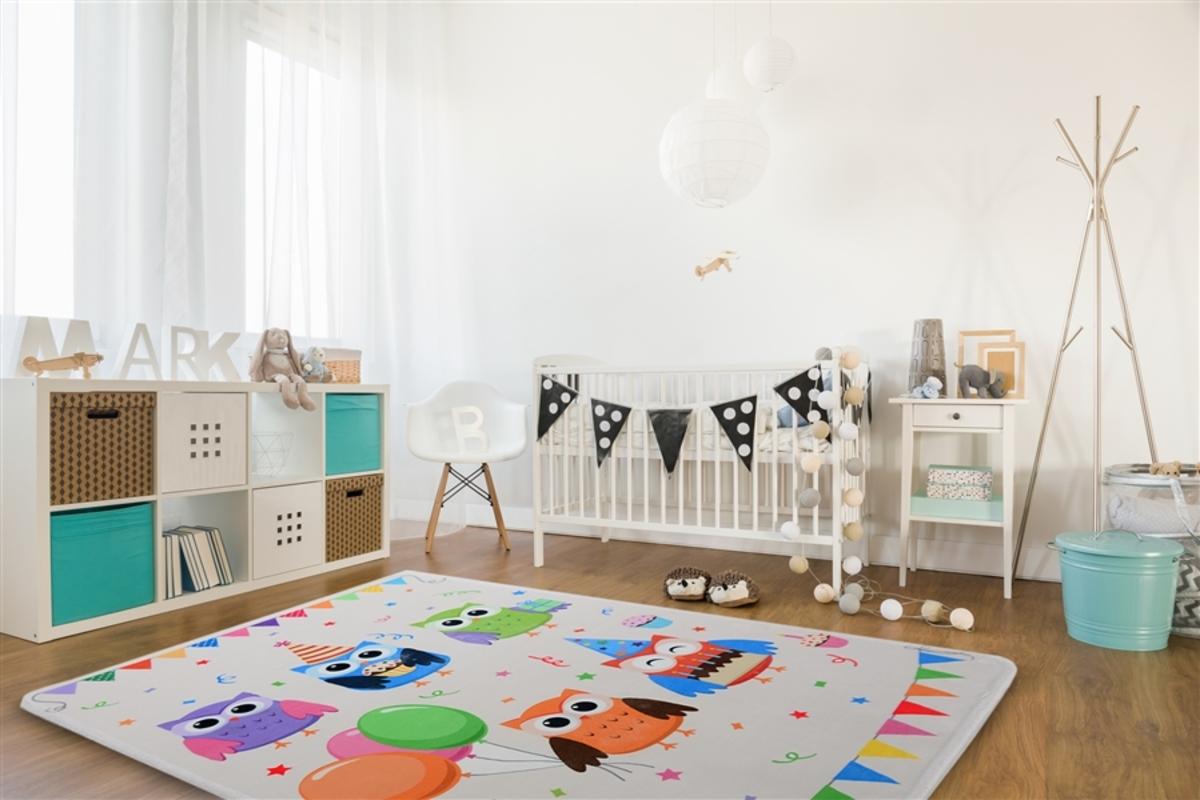 Detský koberec - SOFT OWL PARTY 140 x 200 cm