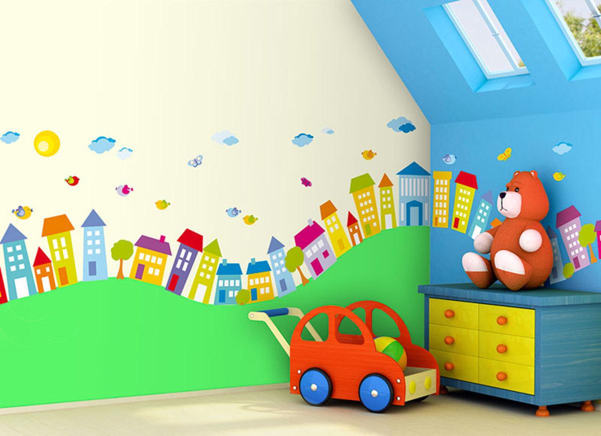 Samolepiaca dekorácia - domčeky 1 m² domček