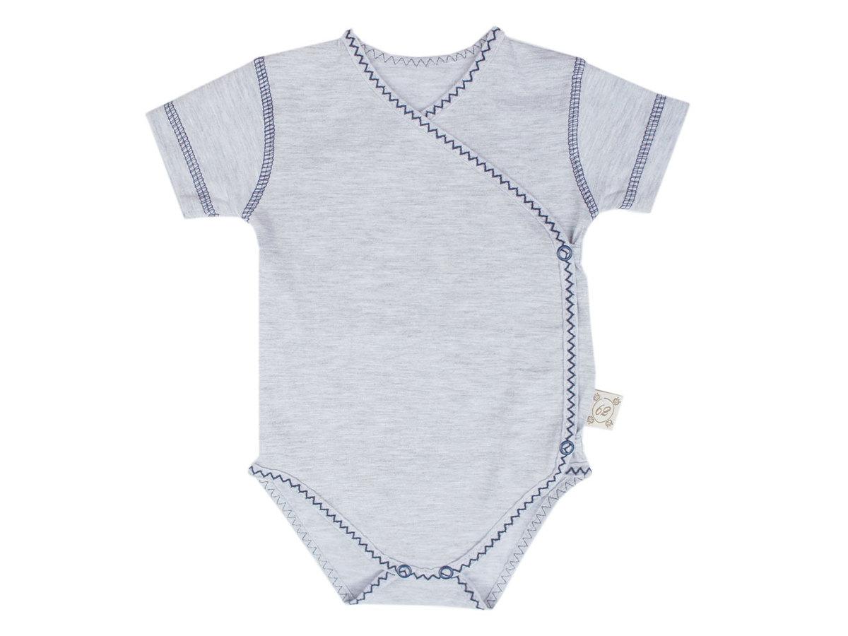 Baby body s krátkym rukávom - modré 56