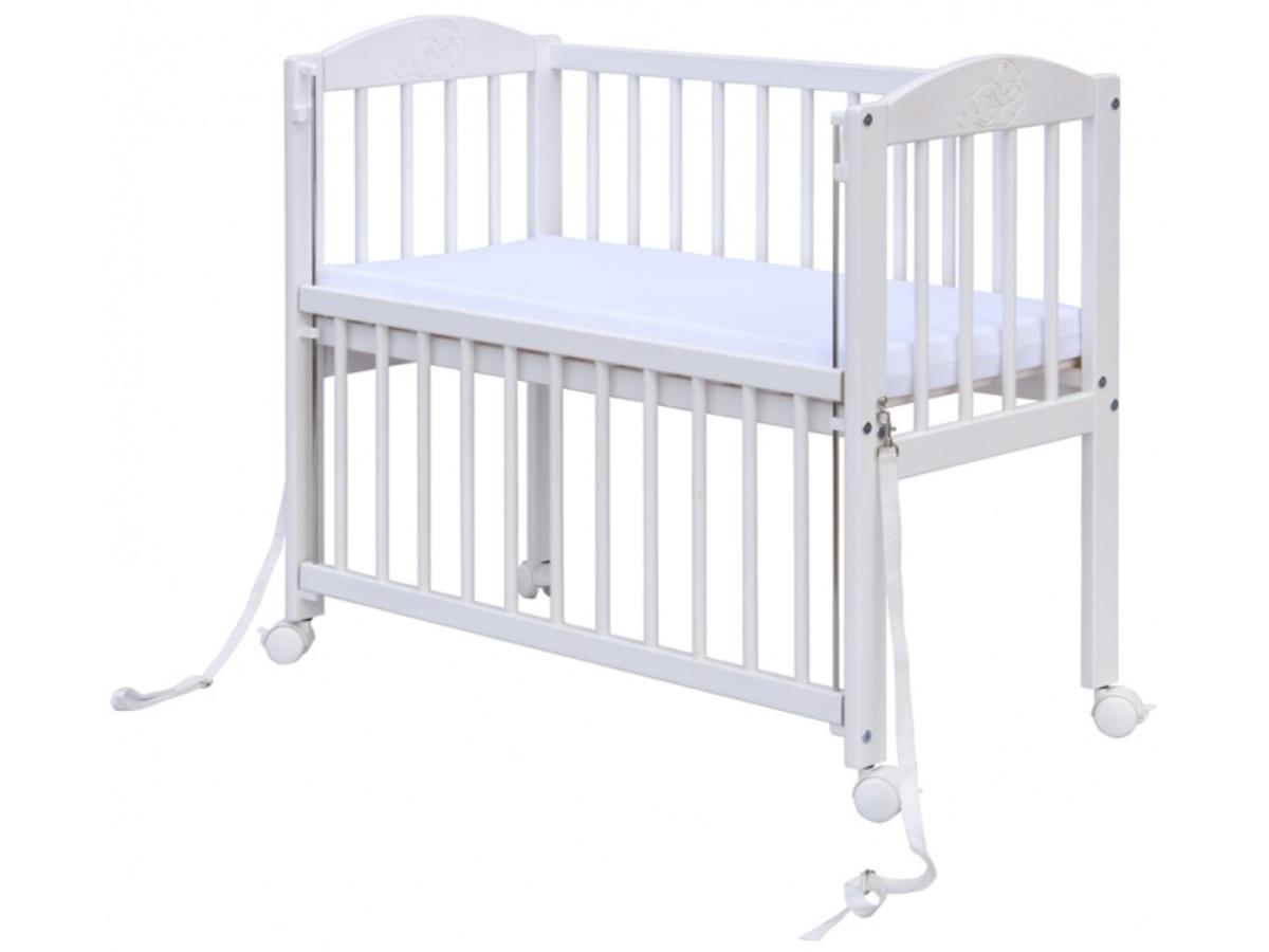 Detská postieľka k posteli rodičov BABY SCARLETT - biela 1027 -