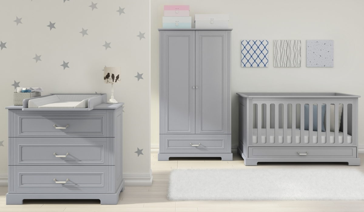 Detská izba INES GREY postieľka s úložným priestorom