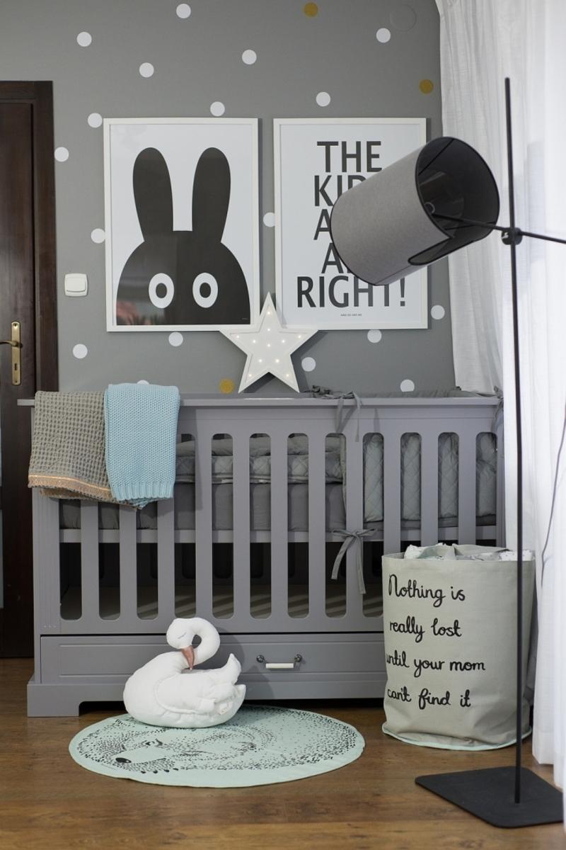 Detská postieľka Ines - sivá 140 x 70 cm postieľka + úložný priestor