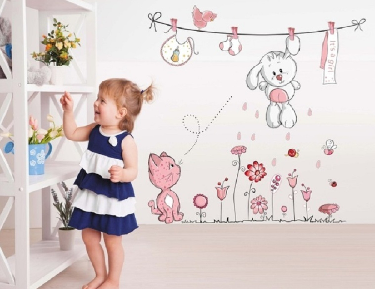 Dekorácia na stenu - roztomilý zajačik