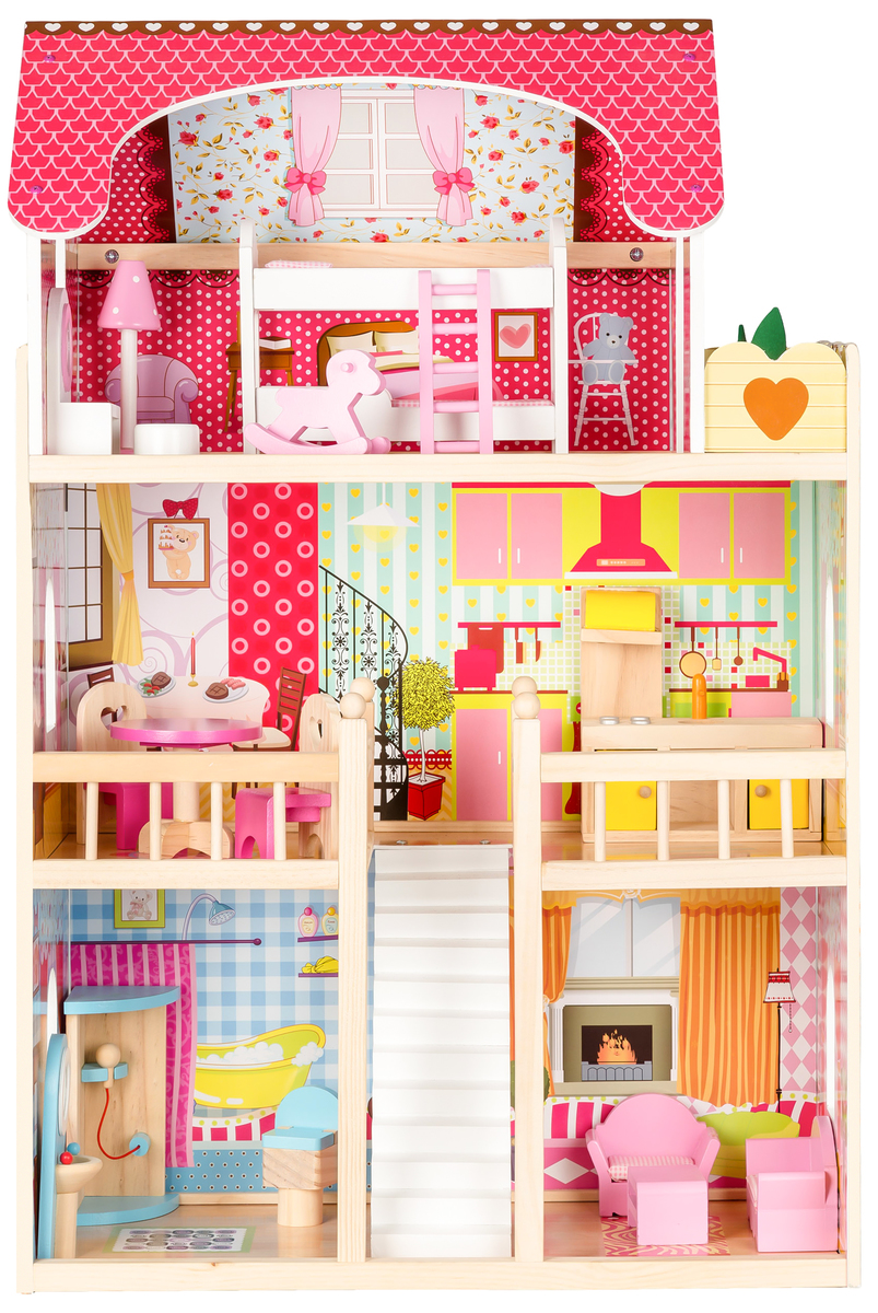 Drevený domček pre bábiky Kráľovská rezidencia
