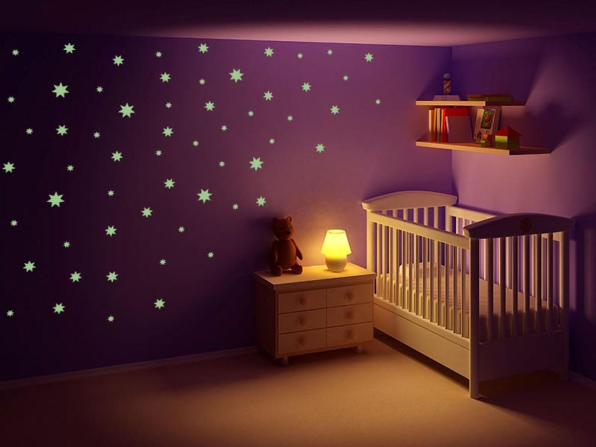 Samolepky na stenu - svietiace hviezdy Veľké 60x30