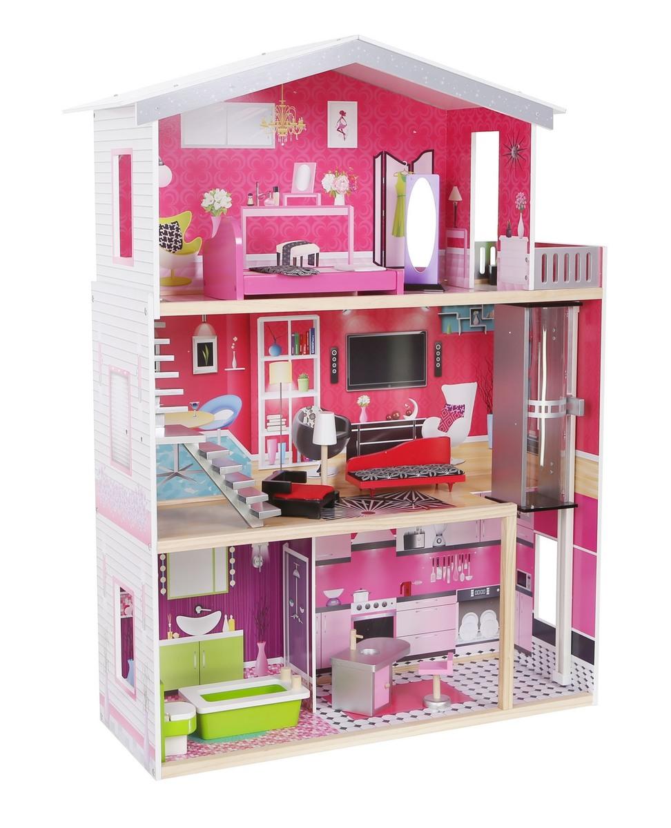Drevený domček pre bábiky - Malibu
