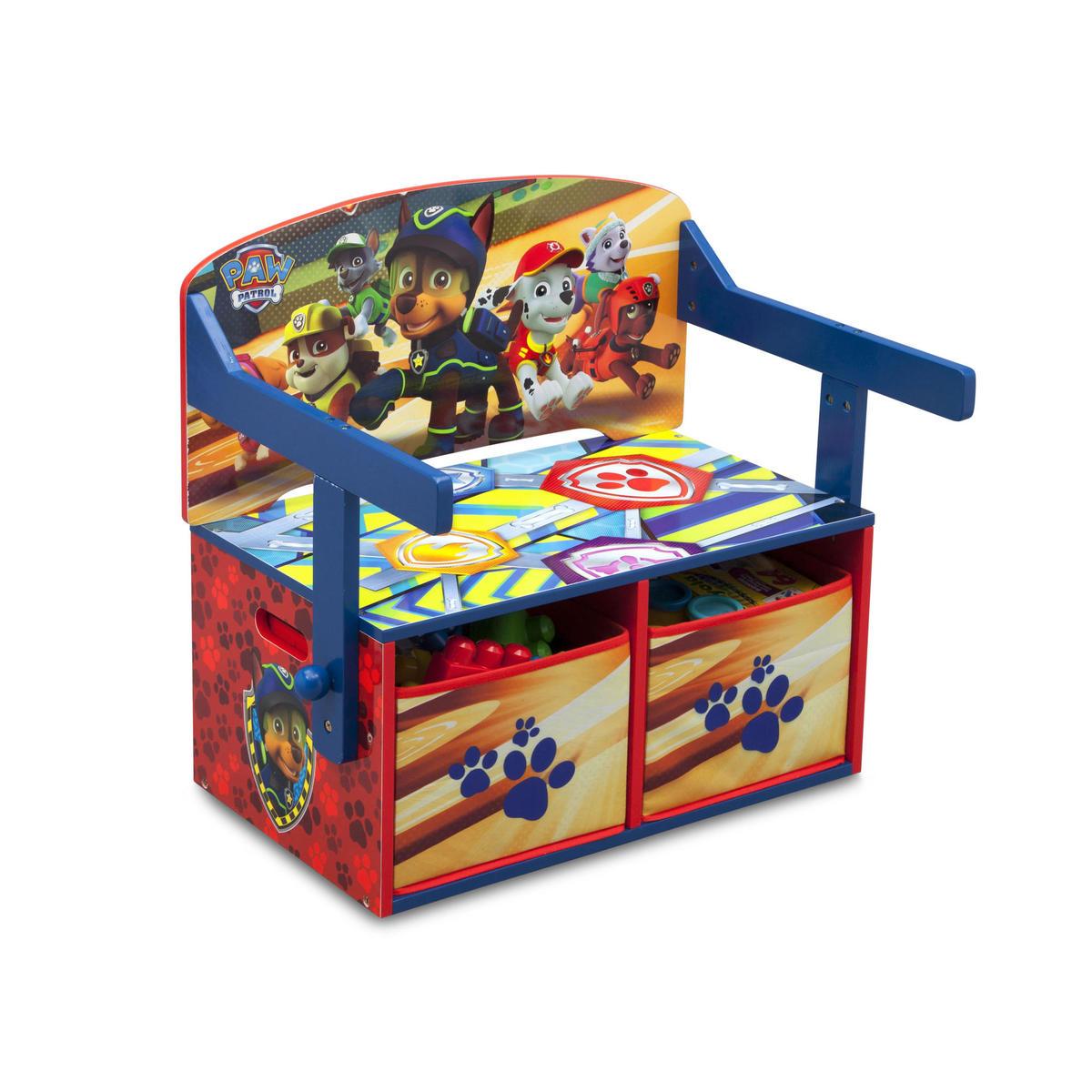 Detská lavica s úložným priestorom - Tlapková patrola TB83332PW