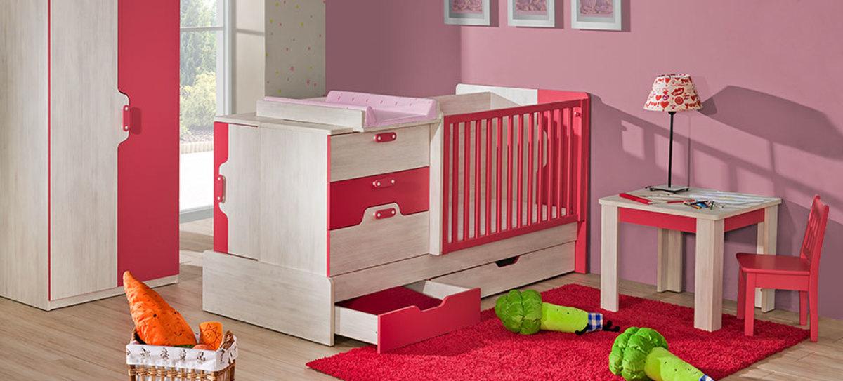Multifunkčná posteľ Nu9 Nu 9 ružová posteľ