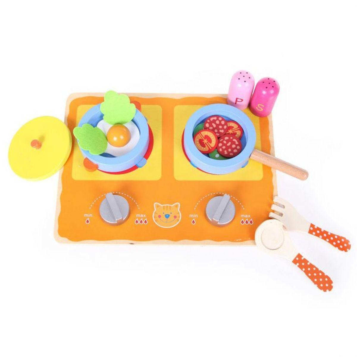 Detská drevená mini kuchynka/varná doska