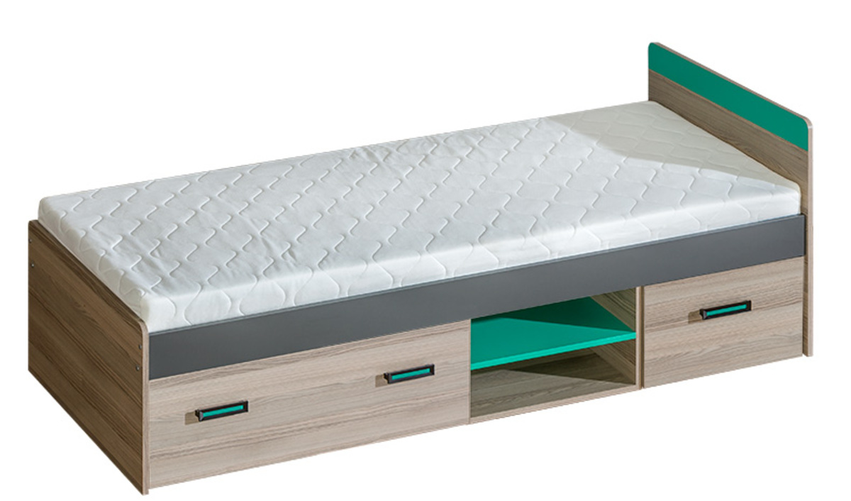 Detská posteľ Ourbaby Uni 7 zelená 195x80 cm