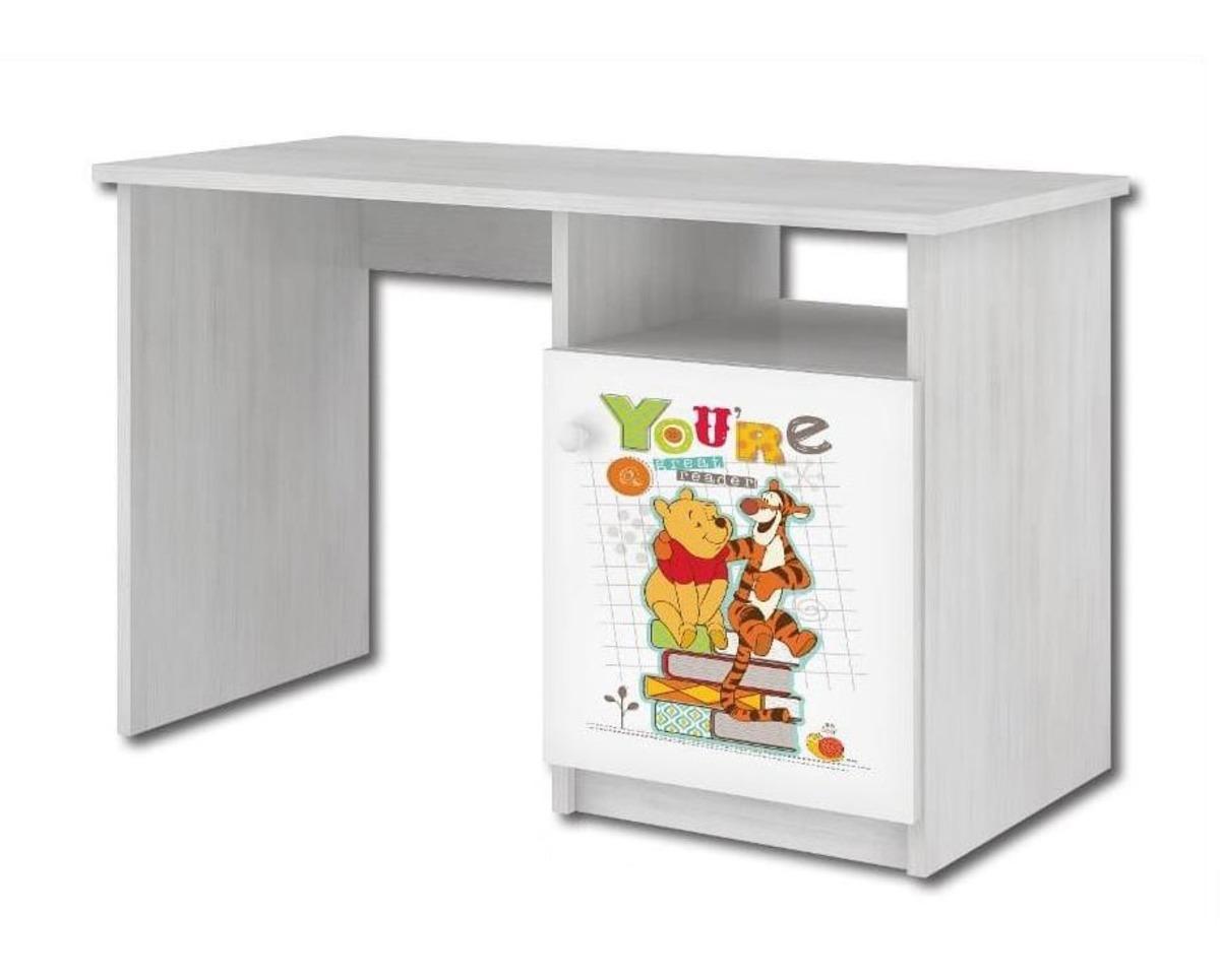 Detský písací stôl - Medvedík Pú a tiger - dekor nórska borovica Desk Winnie-the-Pooh and