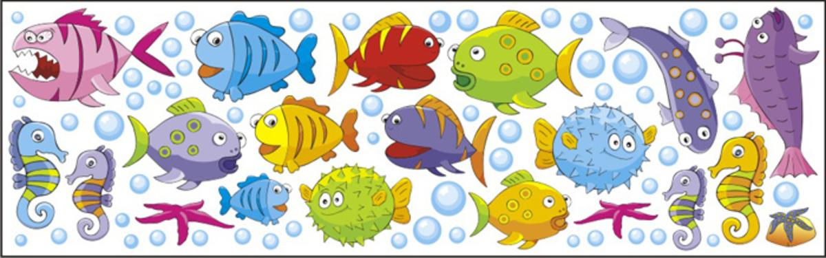 Nálepky na okno - rybičky - 0,3m2 ryby -