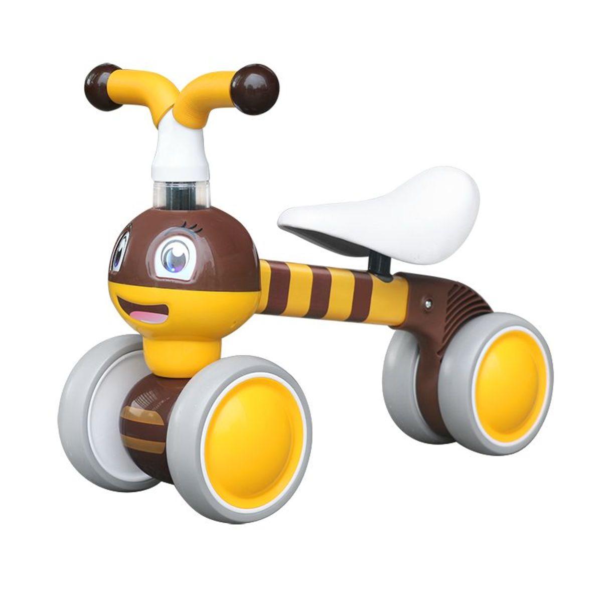 Detské odrážadlo Včielka - žlto-hnedé yellow bee