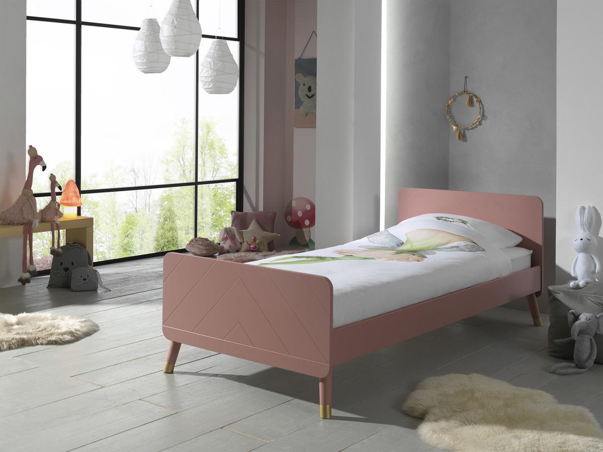 Detská posteľ VIPACK FURNITURE Billy Simple ružová 200x90 cm