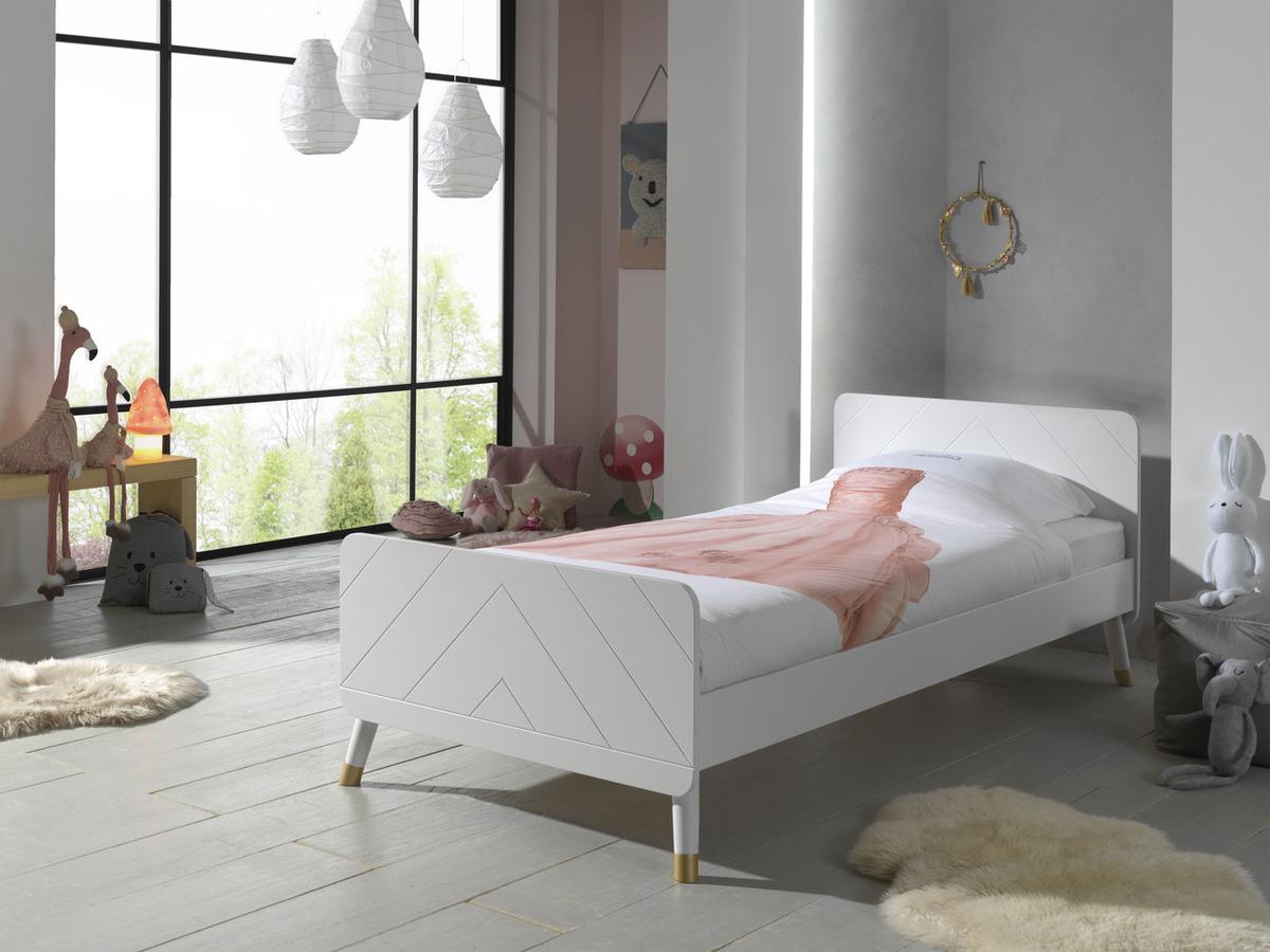 Detská posteľ VIPACK FURNITURE Billy white biela 200x90 cm