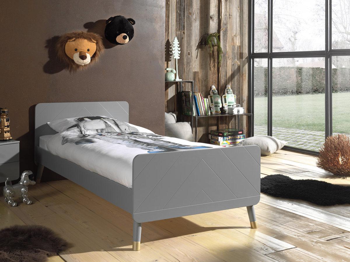 Detská posteľ VIPACK FURNITURE Billy grey sivá 200x90 cm