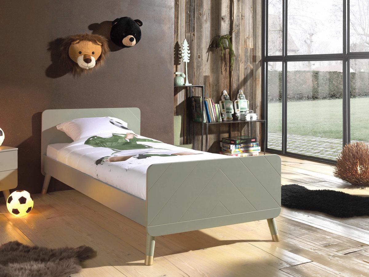 Detská posteľ VIPACK FURNITURE Billy Olive iné farebné prevedenie zelená 200x90 cm