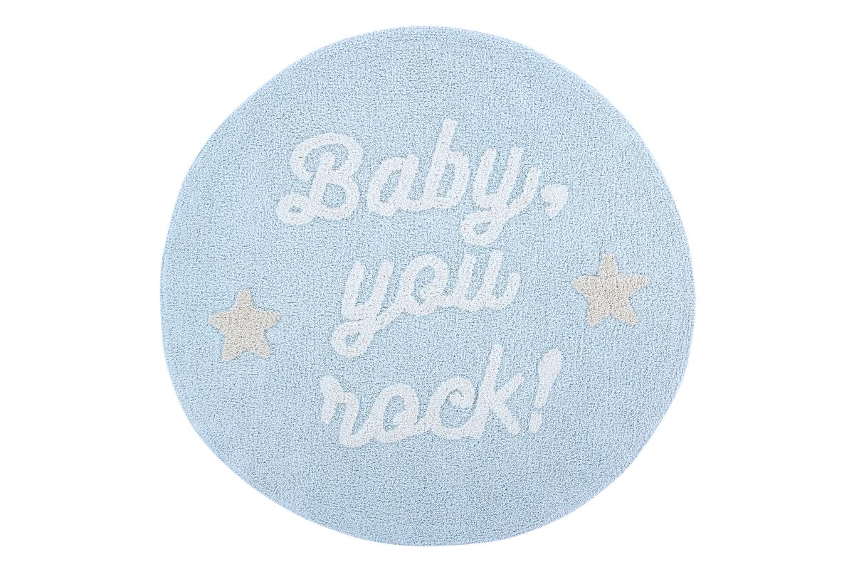 Ourbaby Baby, you rock ! 30264-0 kruh priemer 120 cm biela modrá