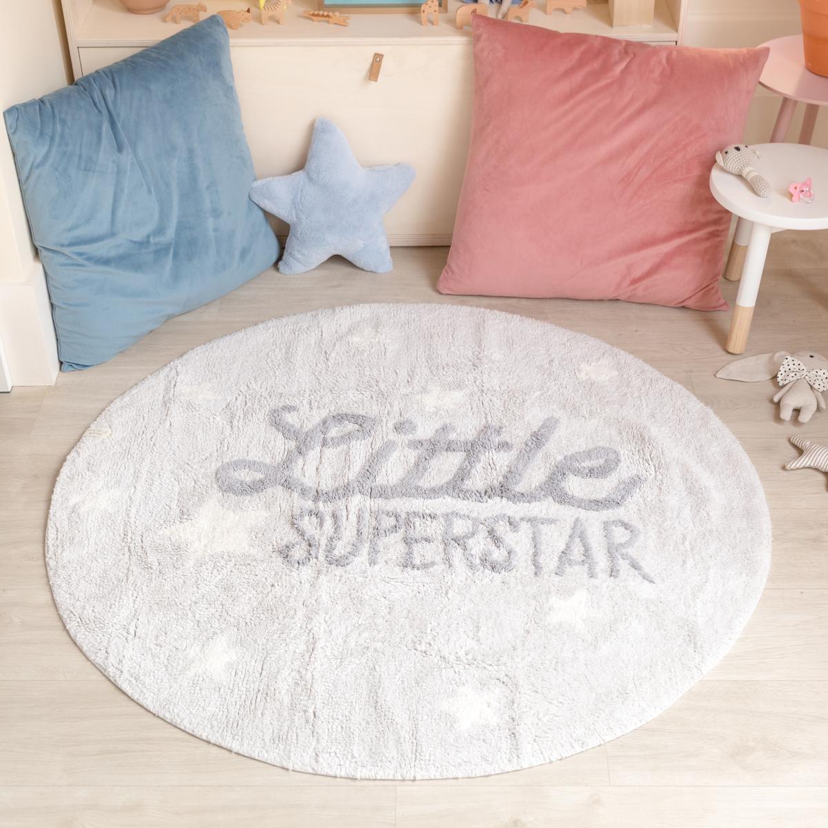 Ourbaby Little Superstar 30265-0 kruh priemer 120 cm sivá