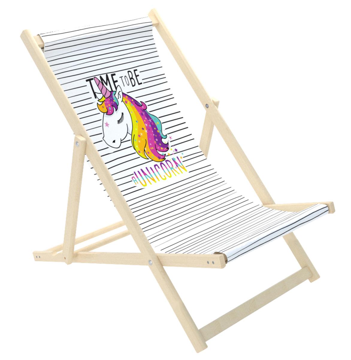Detské plážové lehátko Jednorožec unicorn