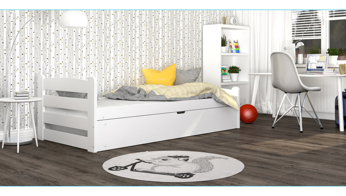 Detská posteľ David - biela 200x90 cm