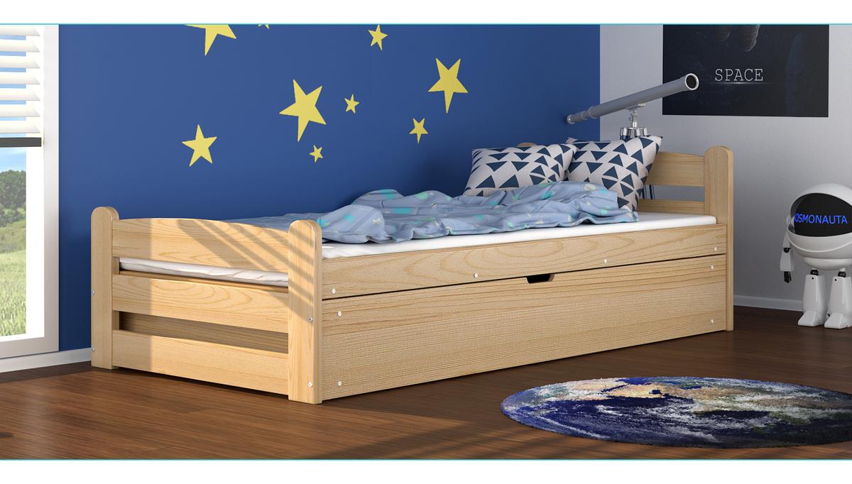 Detská posteľ David - prírodná 200x90 cm