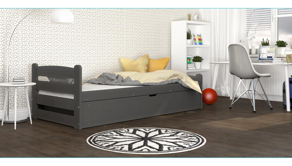 Detská posteľ David - sivá 200x90 cm