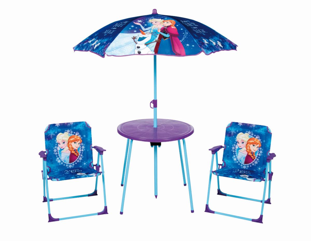 Detský záhradná set Frozen stolík + 2 stoličky + dáždnik