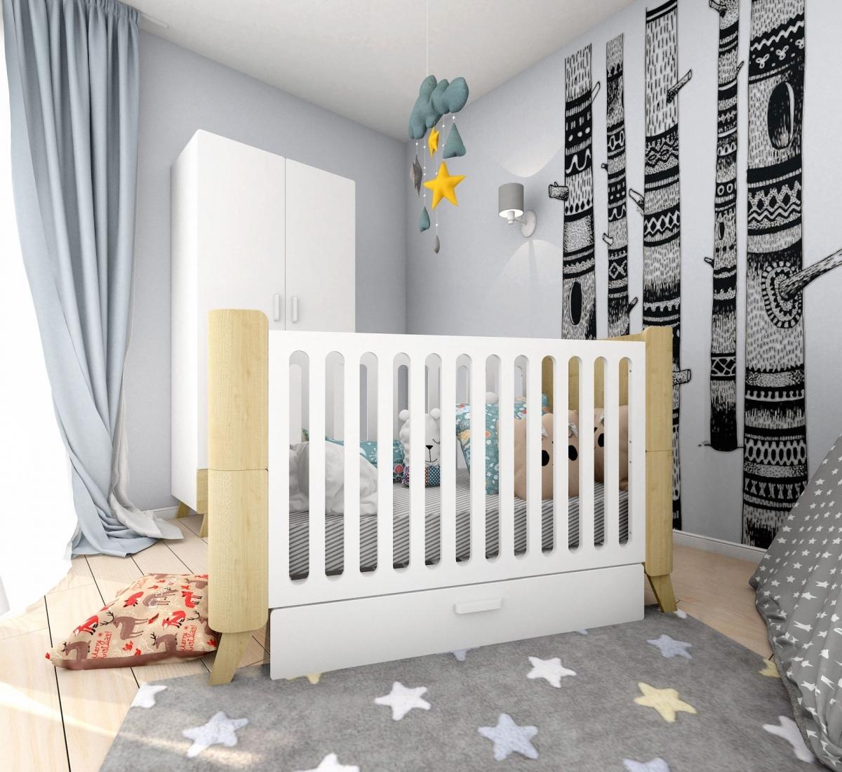 Detská rastúca posteľ so zásuvkou HOPPA