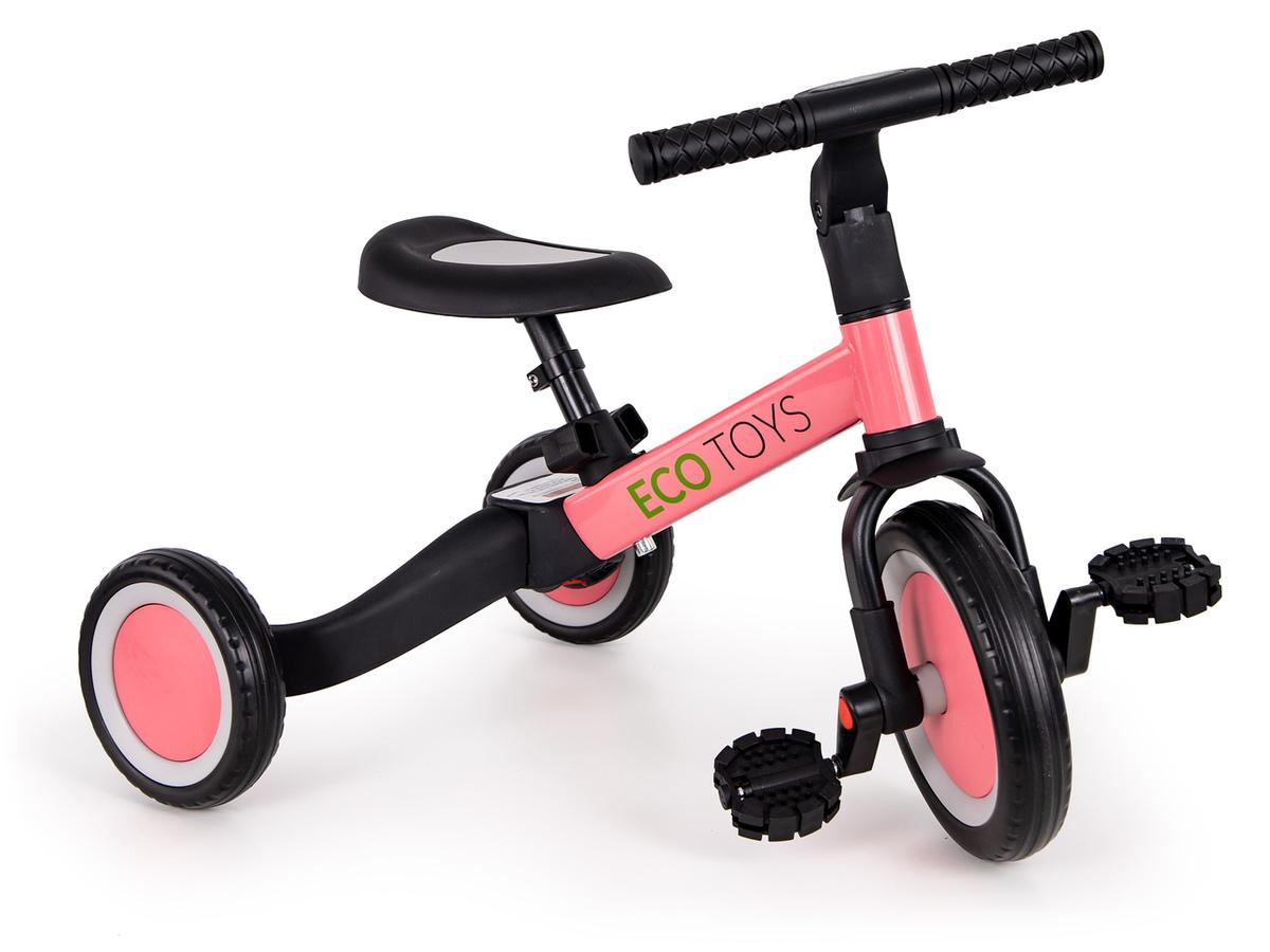 Detská trojkolka Vario 4v1 - ružová pink scooter