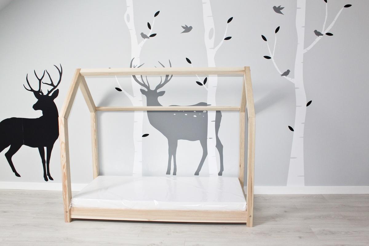 Detská posteľ domček - prírodný 200x90 cm