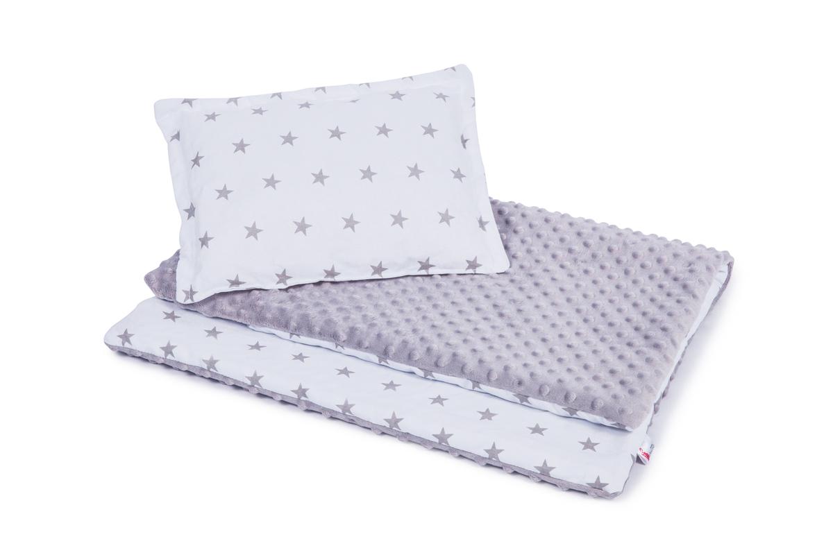 Detská deka a vankúš L Hviezdy 100x75 cm + 35x25 cm