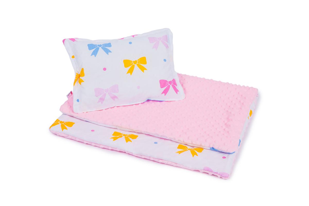 Detská deka a vankúš L Mašličky 100x75 cm + 35x25 cm
