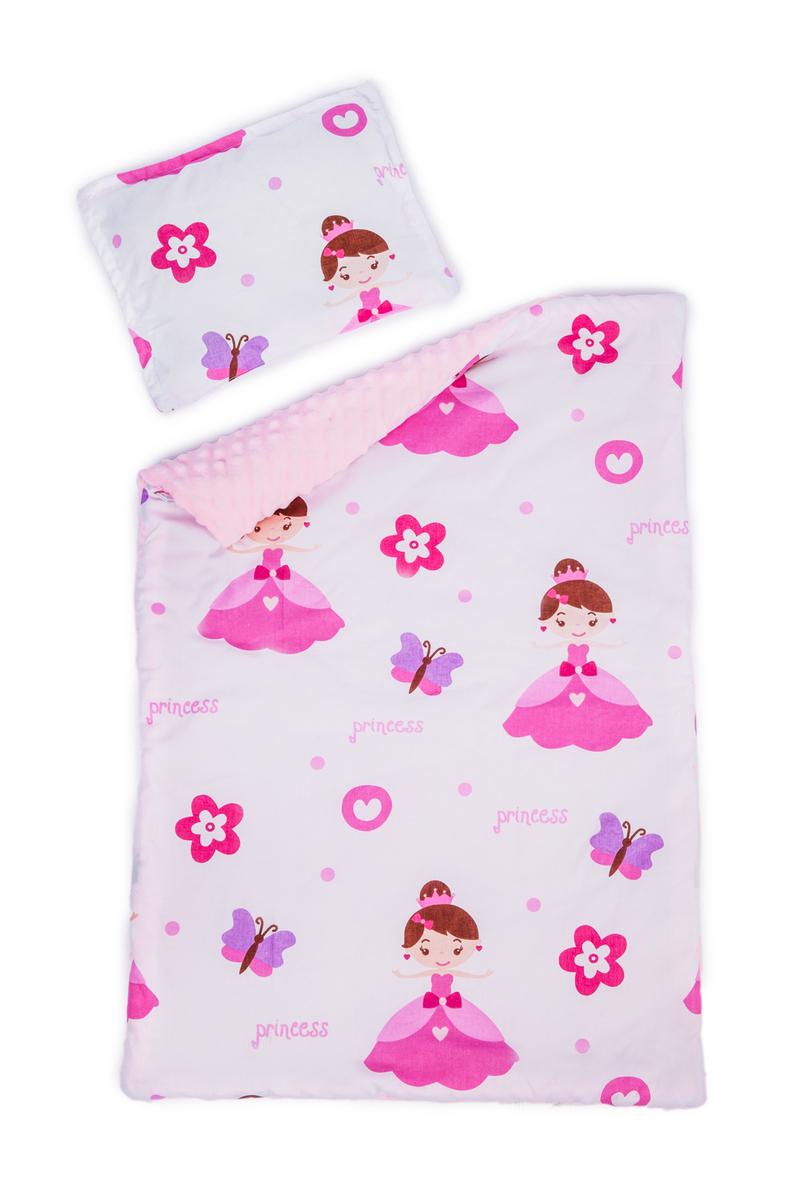 Detská deka a vankúš L Princezná 100x75 cm + 35x25 cm