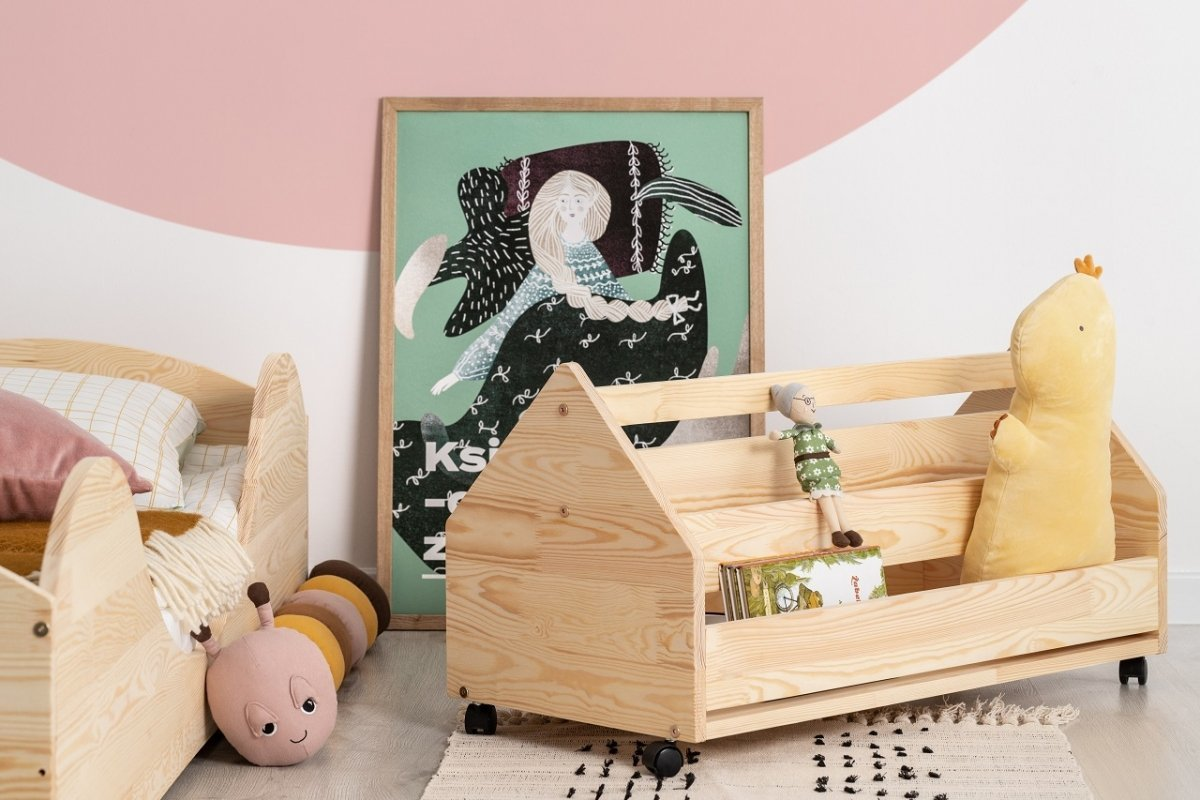 Drevená truhla na hračky DOMČEK KUTU box 60 cm