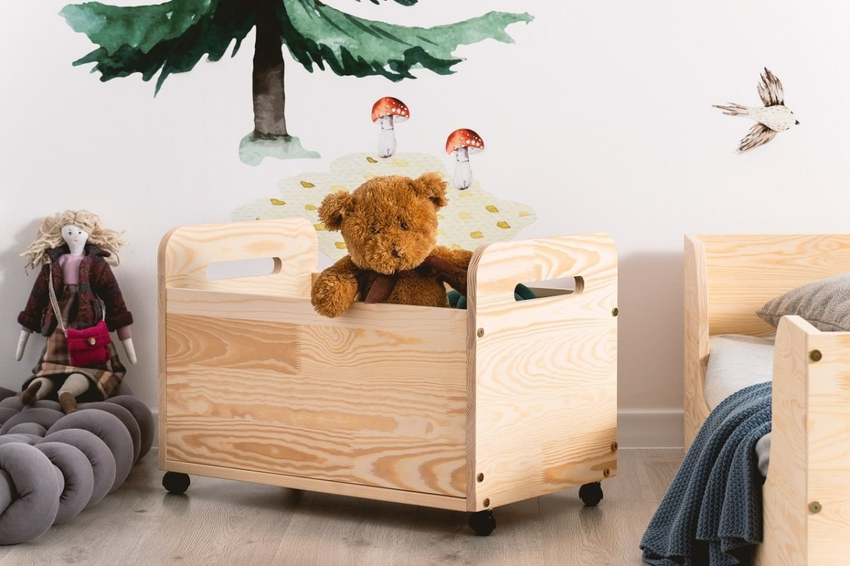 Drevená truhla na hračky BOX KUTU