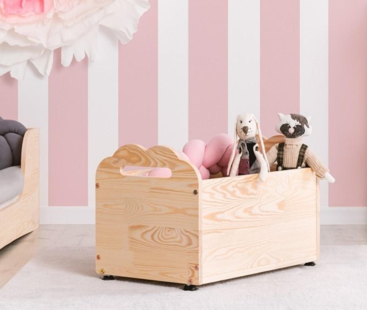 Drevená truhla na hračky MRÁČIK KUTU BOX