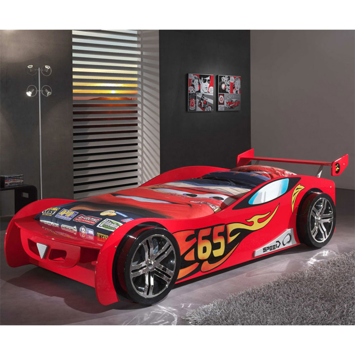 Detská posteľ auto Le Mans - červená Car