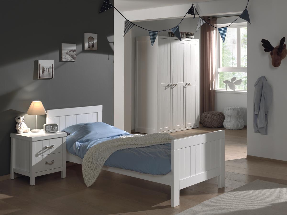 Detská posteľ VIPACK FURNITURE Lewis biela 200x90 cm