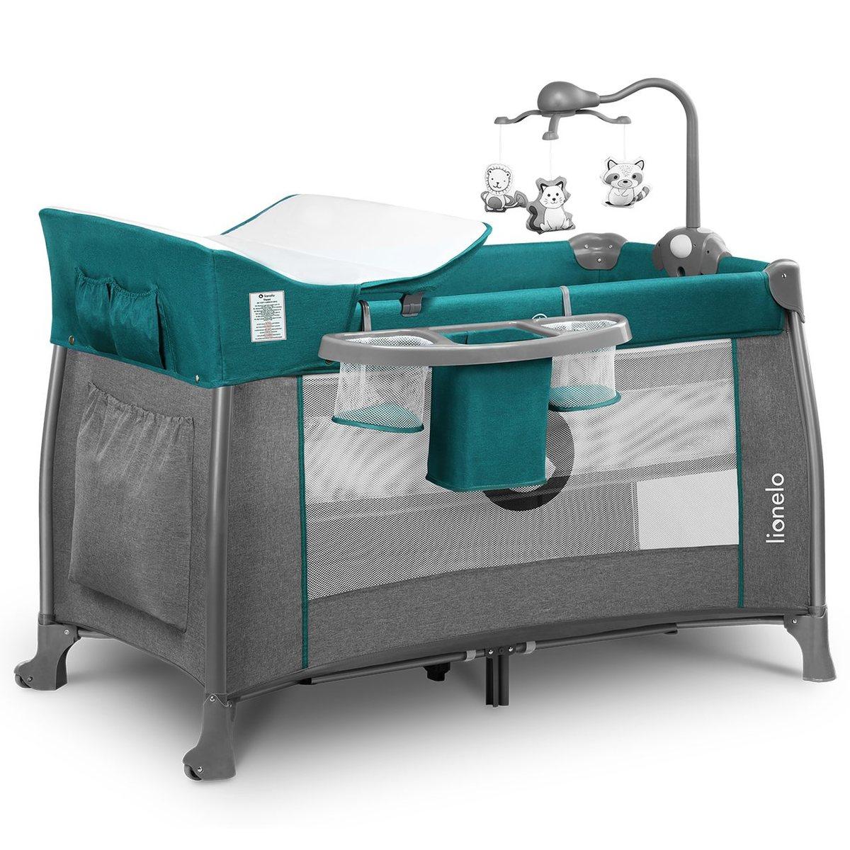 Lionelo Holiday bed Thomi Green Turguoise modrá sivá