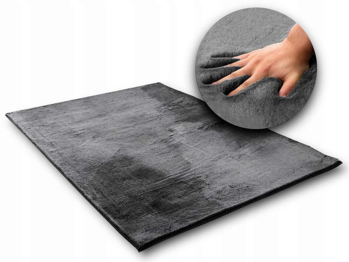 Hodvábny koberec Rabbit - tmavosivý Dark Grey 120 x 170 cm