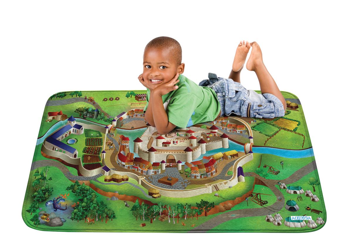 Detský hrací koberec Soft Hrad 100x150 cm