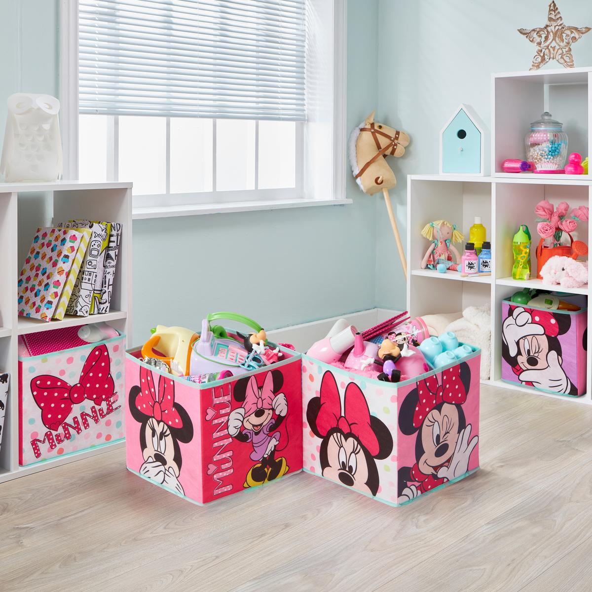 Štyri úložné boxy - Minnie Mouse