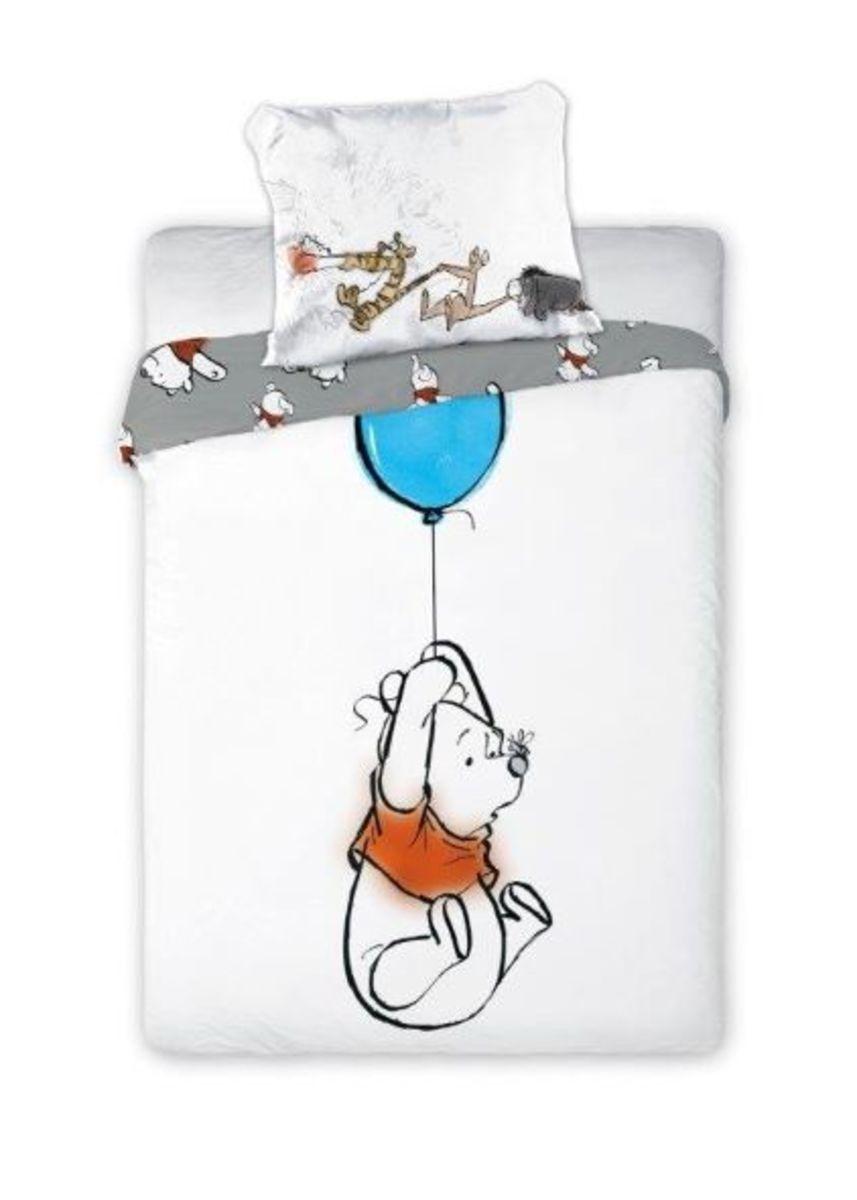 Detské obliečky Medvedík Pú s modrým balónikom 135x100 + 60x40 cm Medvídek Pů